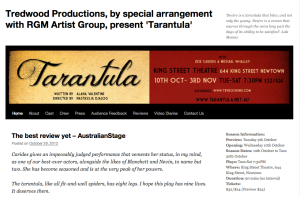 Tarantula - website screen grab