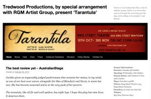 Tarantula - website screen grab