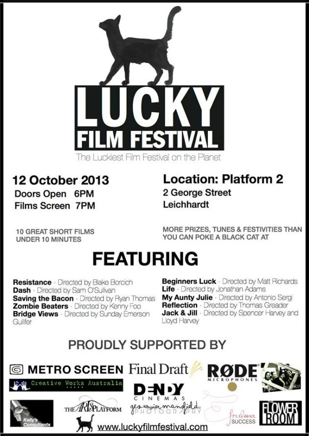 Lucky Film Fest flyer