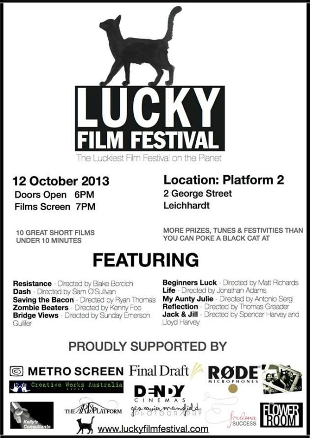 Lucky Film Fest flyer